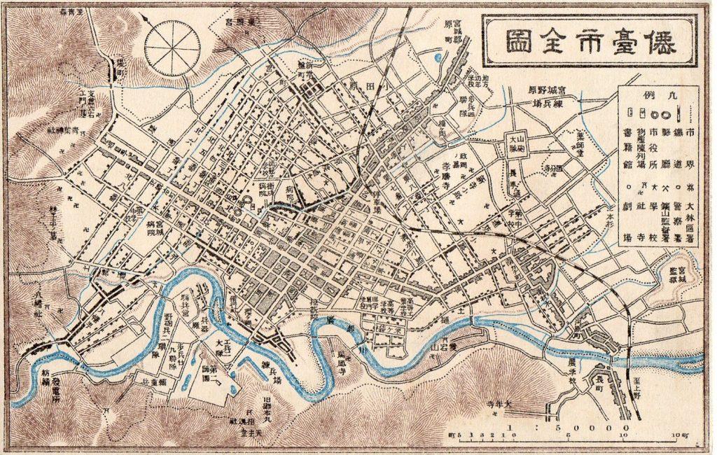 この画像には alt 属性が指定されておらず、ファイル名は 仙台市全図001-1024x650.jpg です